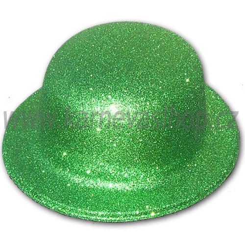 a4f6a983537 Buřinka s glitrem zelená - karnevalshop.cz